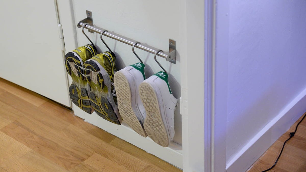 Super compact shoe storage using GRUNDTAL