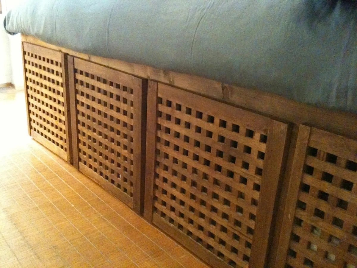 Turning A HOL Side Table Into A Single Bed With Drawers