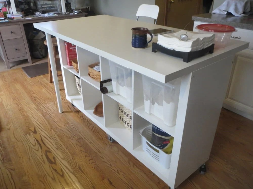 kitchen island table ikea escali scale extendable using expedit and linmon hackers