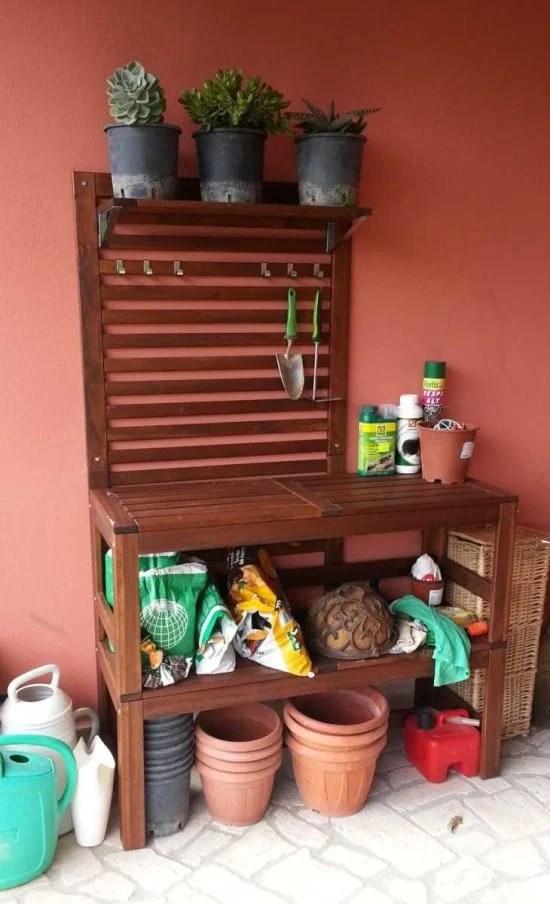 Double PPLAR Bench For Potting Bench IKEA Hackers