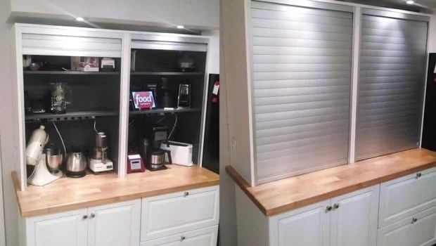 kitchen shelf display ideas custom the mother of appliance garages - ikea hackers