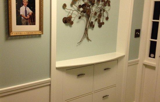 Hemnes Built In Shoe Cabinet For Entryway Ikea Hackers