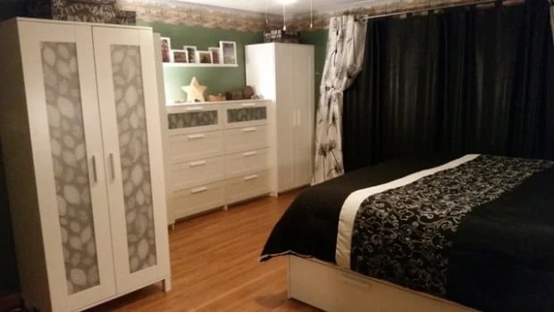 Aneboda Wardrobe and Brimnes Dresser Window Hack  IKEA