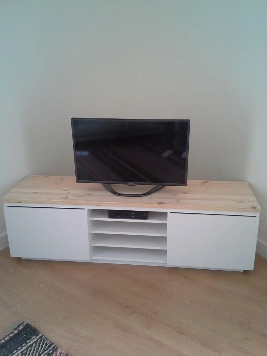 TV Bench With A Personal Touch IKEA Hackers