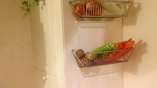 kitchen drainer basket ready made island for fintorp dish becomes wall fruit - ikea ...