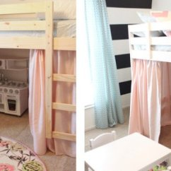 Simple Living Room Curtains Decorating Ideas Without Sofa A Mydal Bunk Bed Upgrade - Ikea Hackers