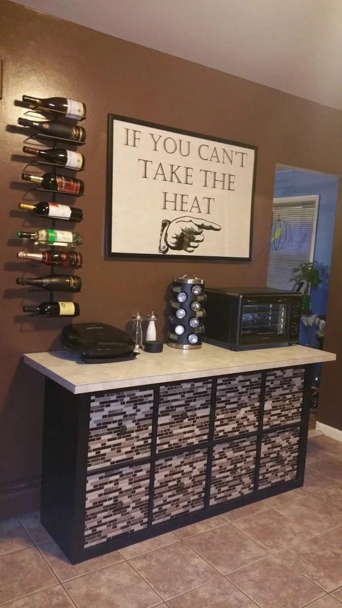 ikea kitchen counter solid color rugs expedit/lekman/linnmon custom countertop & storage ...