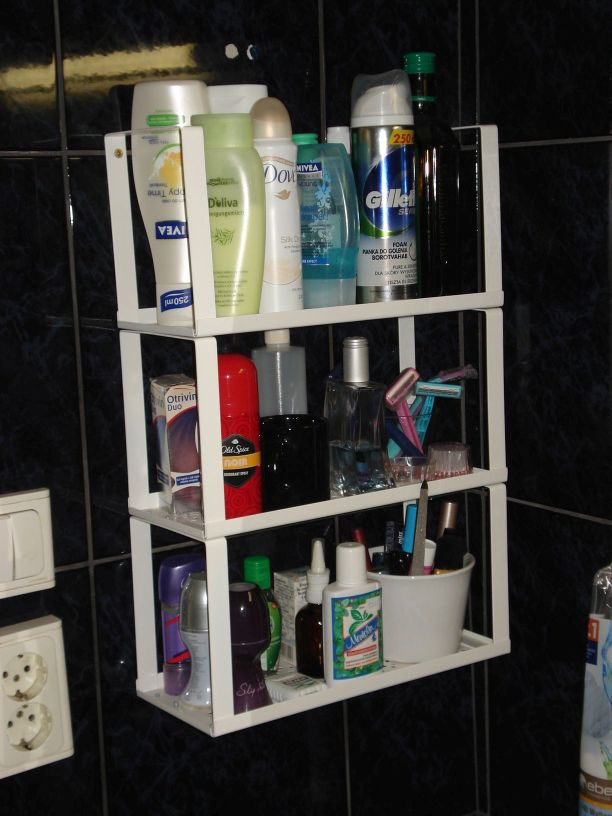 VARIERA shelf insert to bathroom shelving  IKEA Hackers