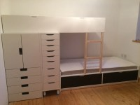IKEA Loft Bed with Lots of Storage Ideas