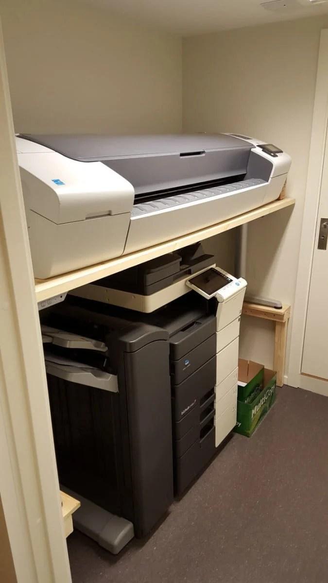 Electric Printer Desk By Ikea Ikea Hackers