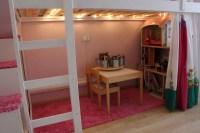 MYDAL Loftbed with play area for girl's room - IKEA ...