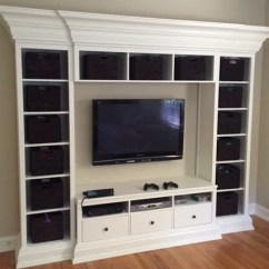 Living Room Wall Ideas With Tv Sets San Antonio Kids Entertainment And Toy Storage Unit - Ikea Hackers