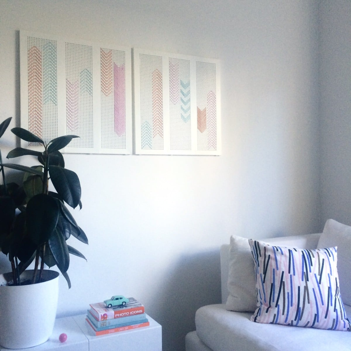 Broken Algot Shelf To Wall Art For Living Room Ikea Hackers