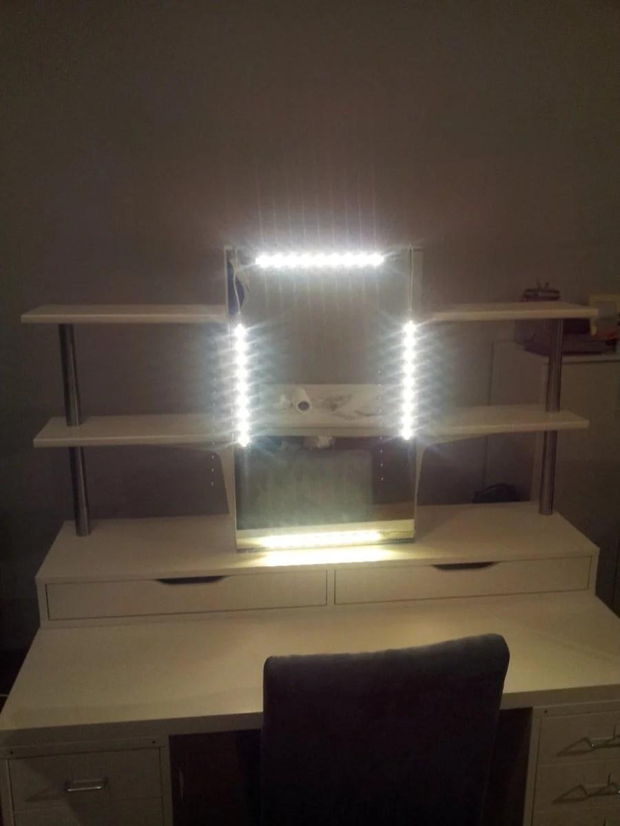 Ikea Vanity Table With Lights  Nazarm.com
