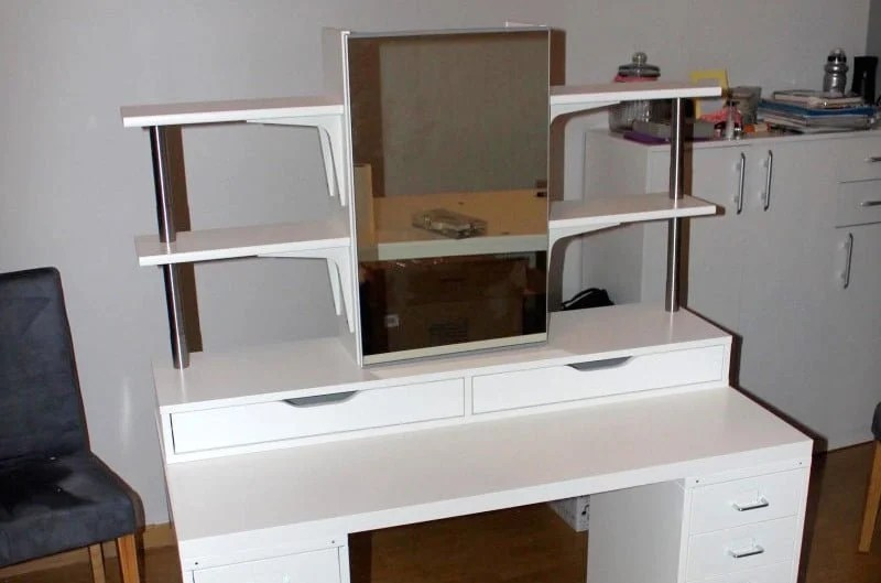 An affordable IKEA dressing table (makeup vanity) - IKEA Hackers