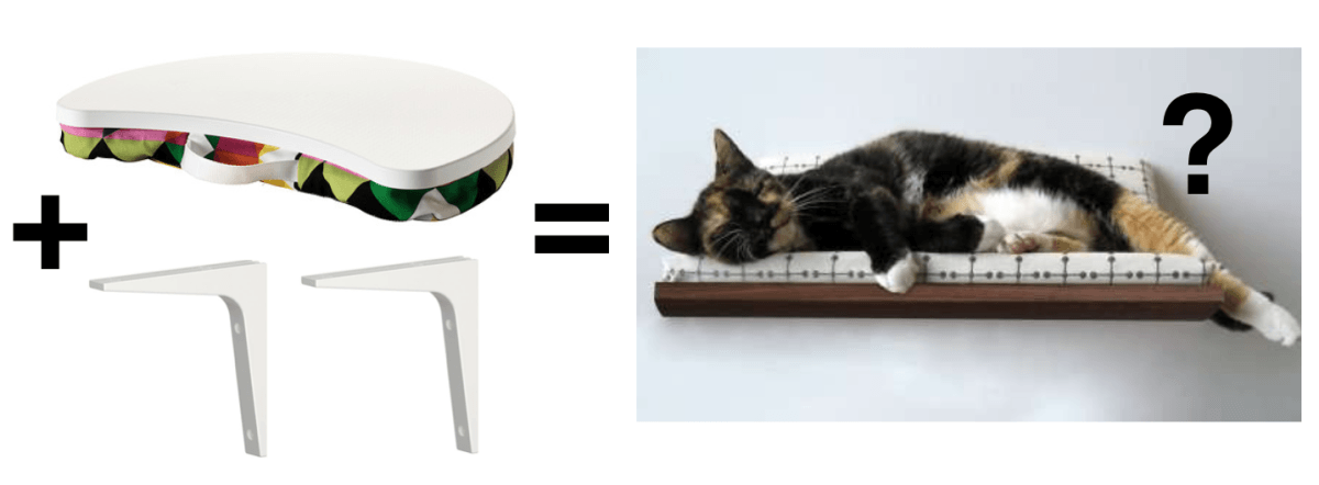 Wall Mounted Cat Bed Ikea Hackers