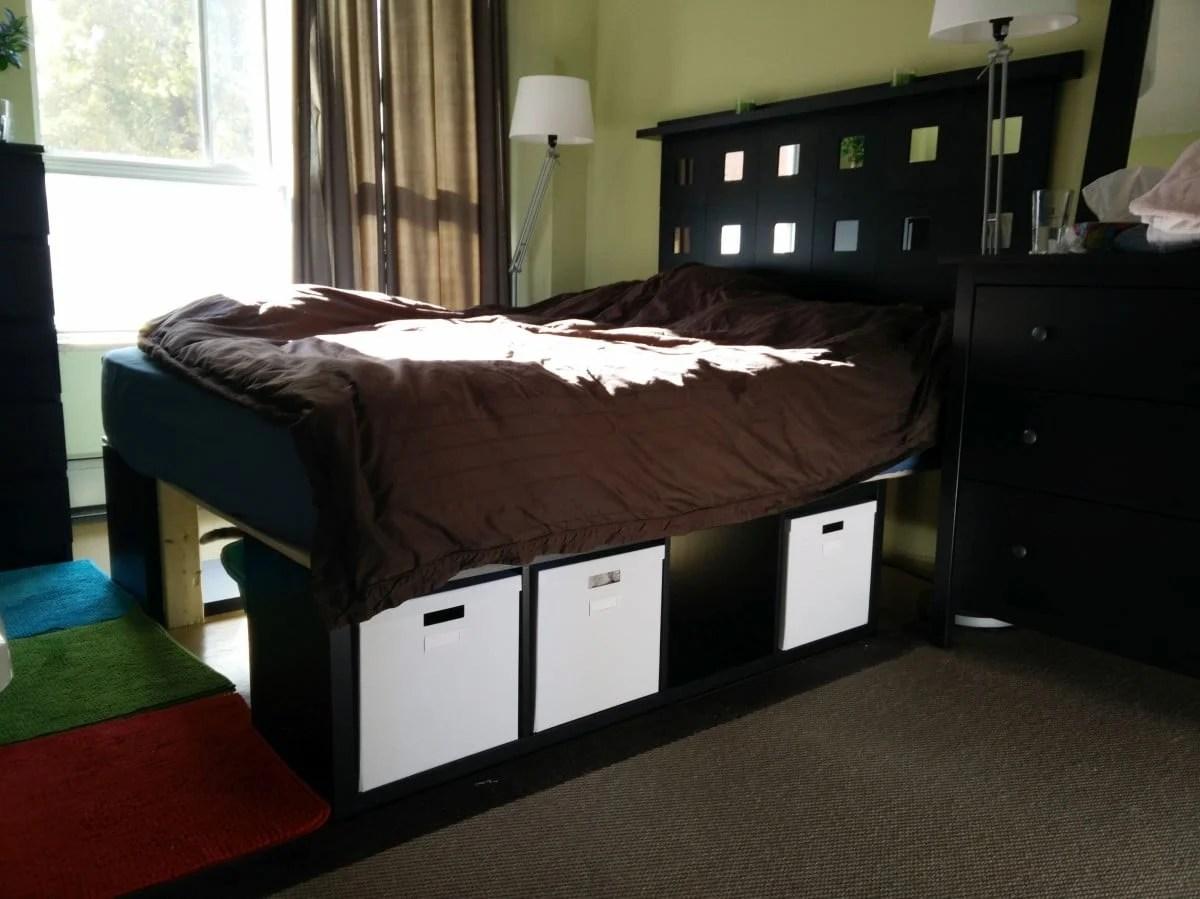 Kallax Storage Bed and Malma Headboard  IKEA Hackers