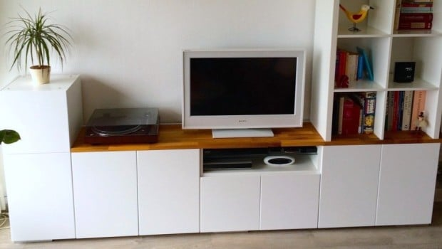 work station kitchen gray island tv unit from ikea metod cabinets - hackers ...