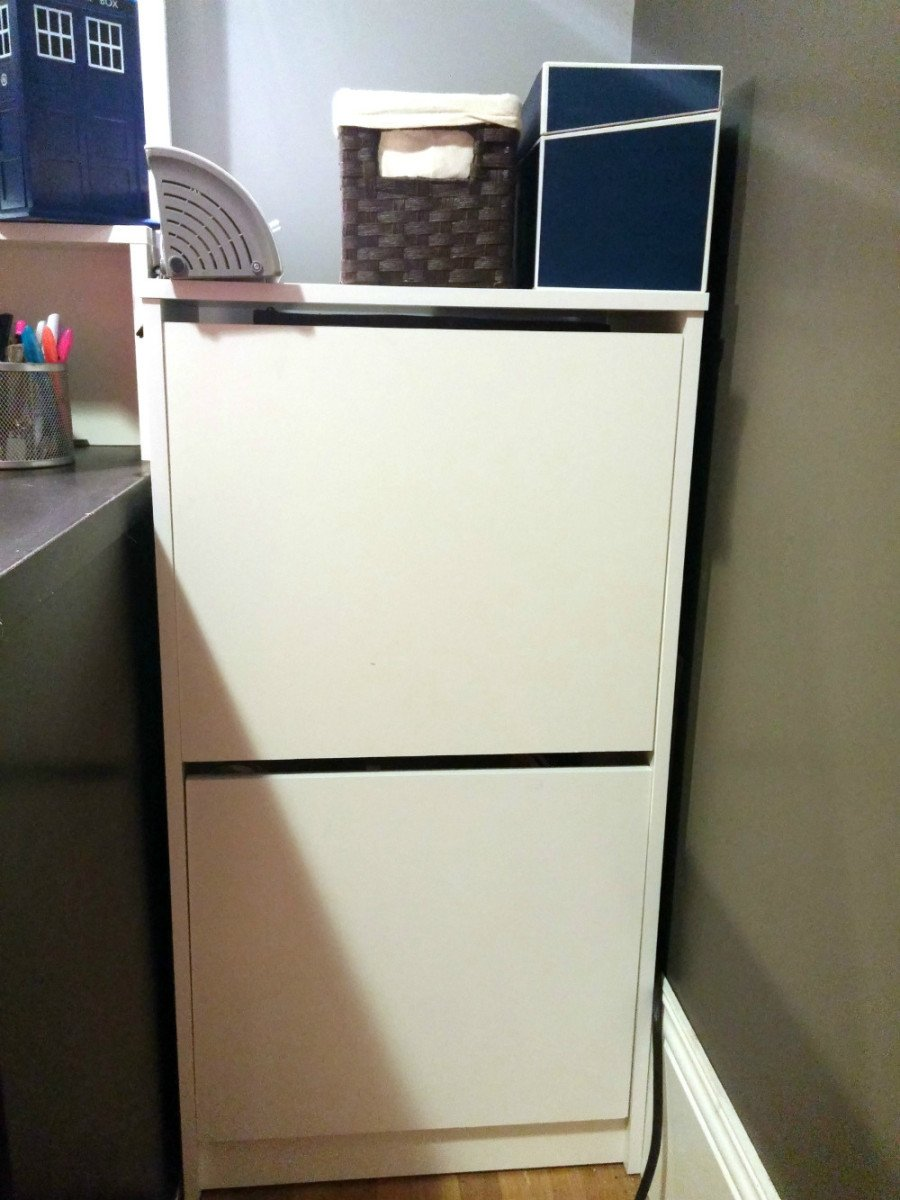 movable cabinets kitchen estimator compact craft corner from bissa shoe cabinet - ikea hackers
