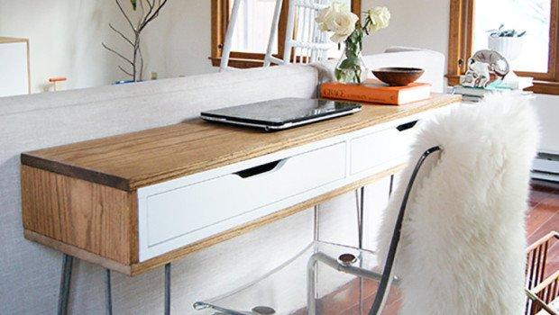 Slim MidCentury Laptop Desk  IKEA Hackers  IKEA Hackers