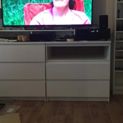 Tv Chair Ikea Covers Uk Two Malm Chests As A Highboard Hackers