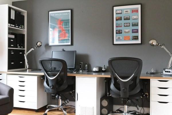 Home Office Desk Workstation IKEA Hack