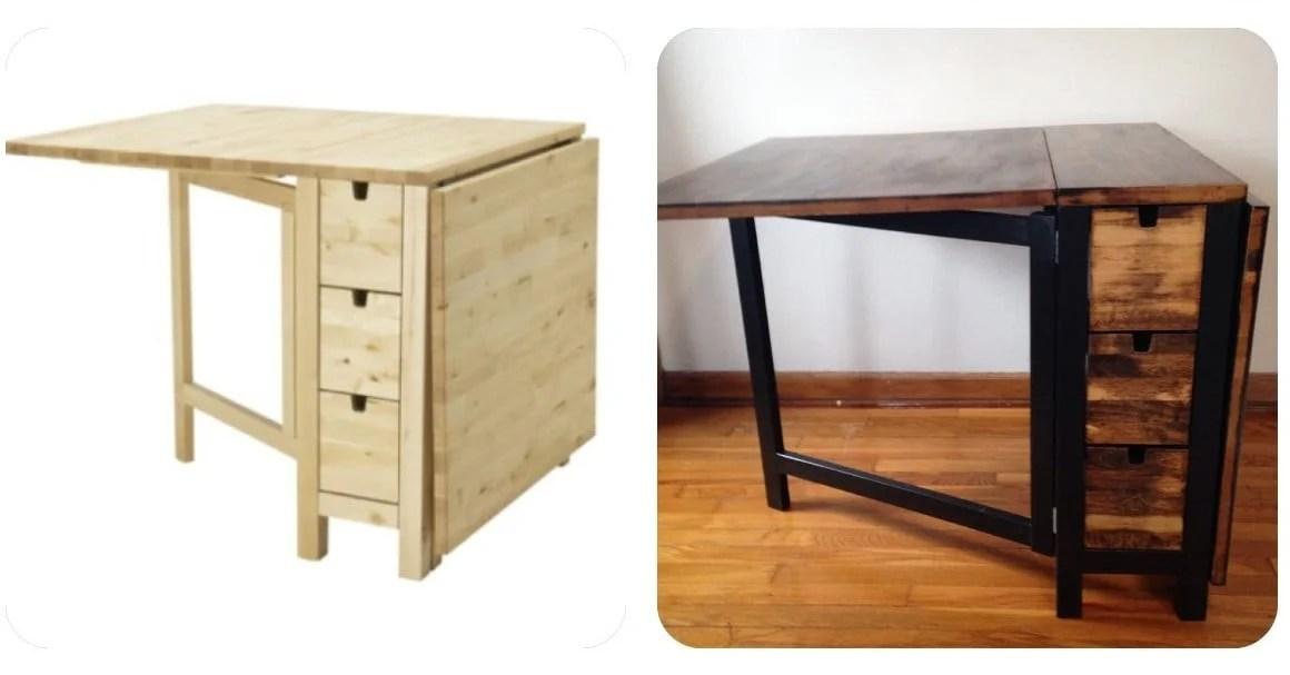 Ikea Norden Gateleg Table Goes Dark Ikea Hackers
