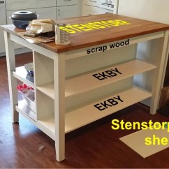 Ikea Kitchen Island Cheap Table Sets For Sale Islands Carts Archives Hackers Adding Shelves To The Stenstorp
