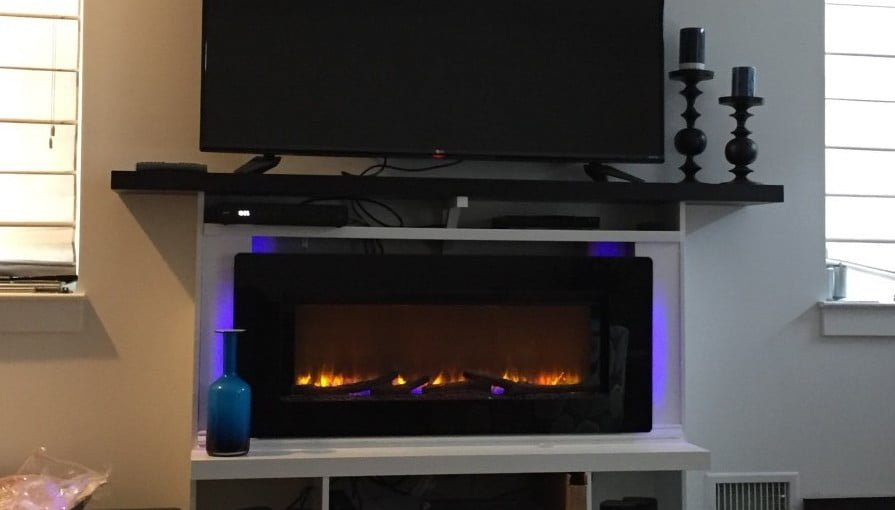 Custom Built Fireplace Surround Mantel Ikea Hackers