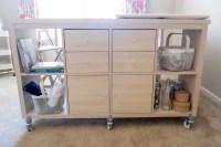 IKEA Kallax crafting table