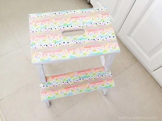 The BEKVÄM step stool gets pretty with washi tape