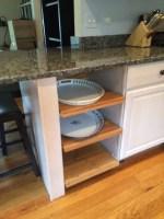 Lamplig chopping board as open shelving