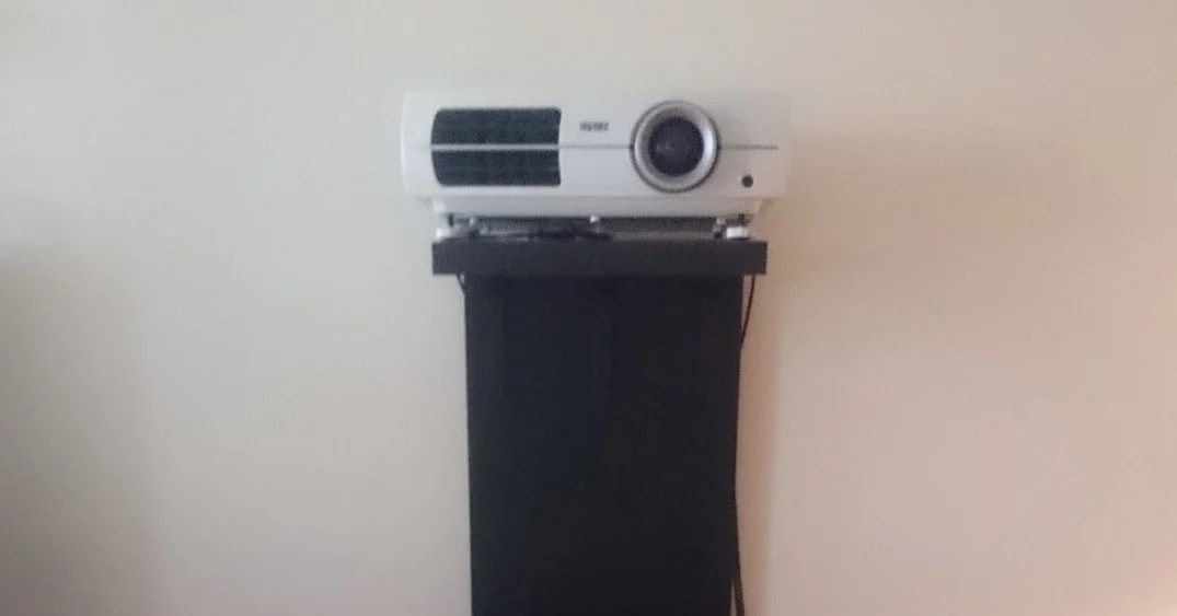 kitchen kraft cabinets lowes trash cans a video projector stand that won't screw up your wall ...