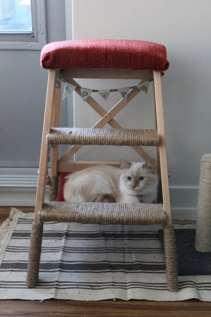 cat tree hammock cat chair hammock  so cushy your cat will love it   ikea hackers  rh   ikeahackers