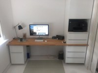 My home office from IKEA kitchen cabinets - IKEA Hackers