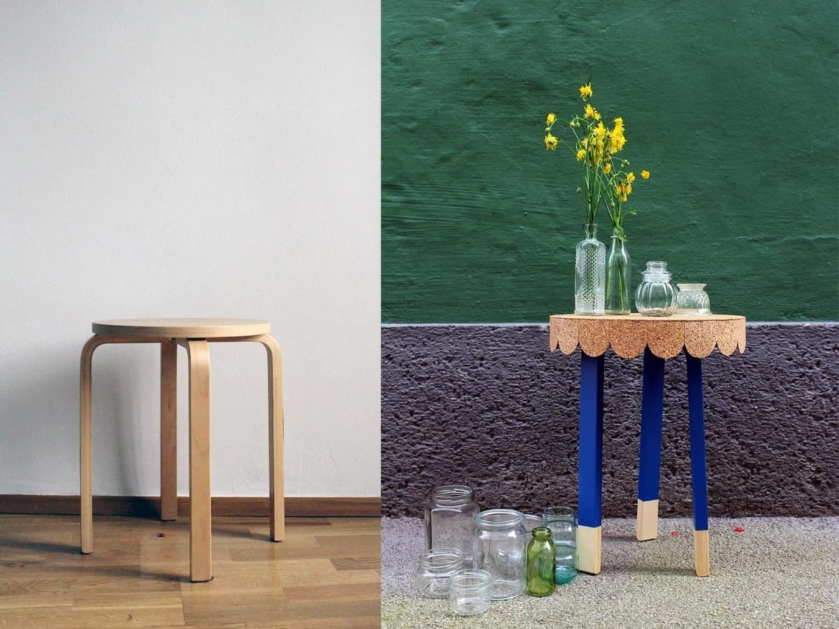 7 easy steps to transform an ikea stool into a cute table ikea hackers. Black Bedroom Furniture Sets. Home Design Ideas