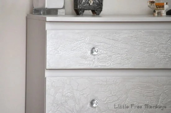 Crackled paint drawers
