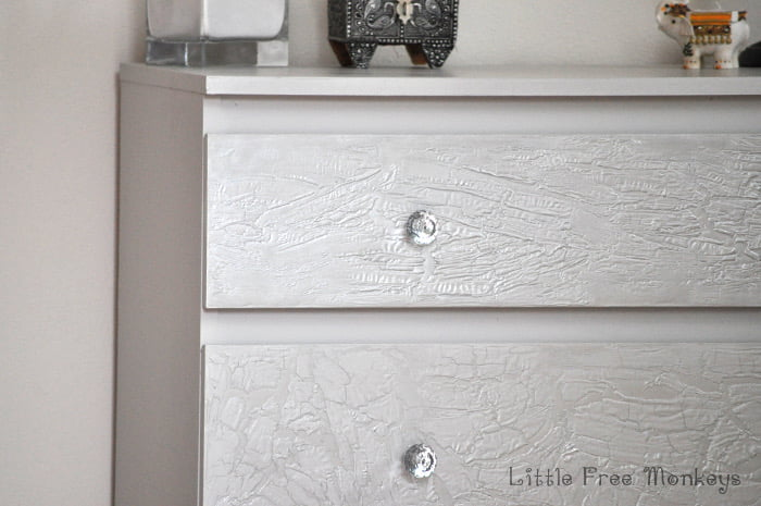 How To Do A Crackled Paint Malm Dresser Makeover Ikea