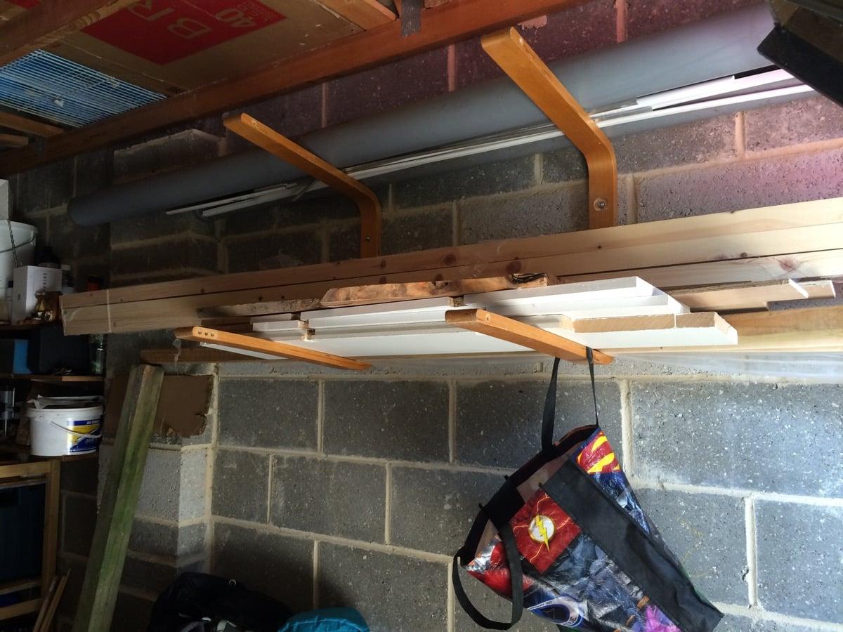 ikea jules chair yoga seniors wood storage rack (or surfboard rack) - hackers