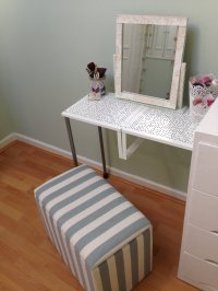 Turn Variera shelf inserts into a gorgeous dressing table ...
