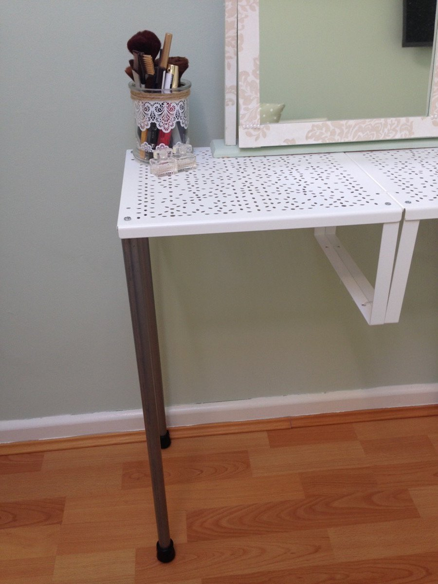 turn variera shelf inserts into a gorgeous dressing table