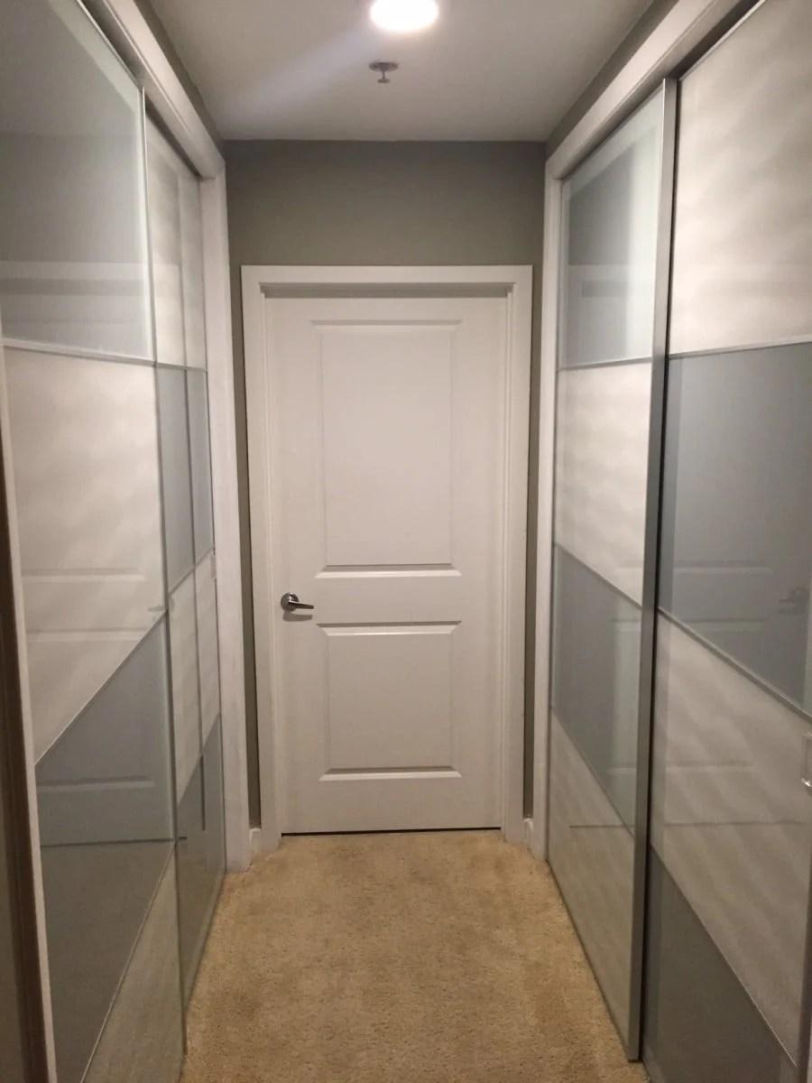 Ikea Sliding Doors Installed On Existing Condo Closet