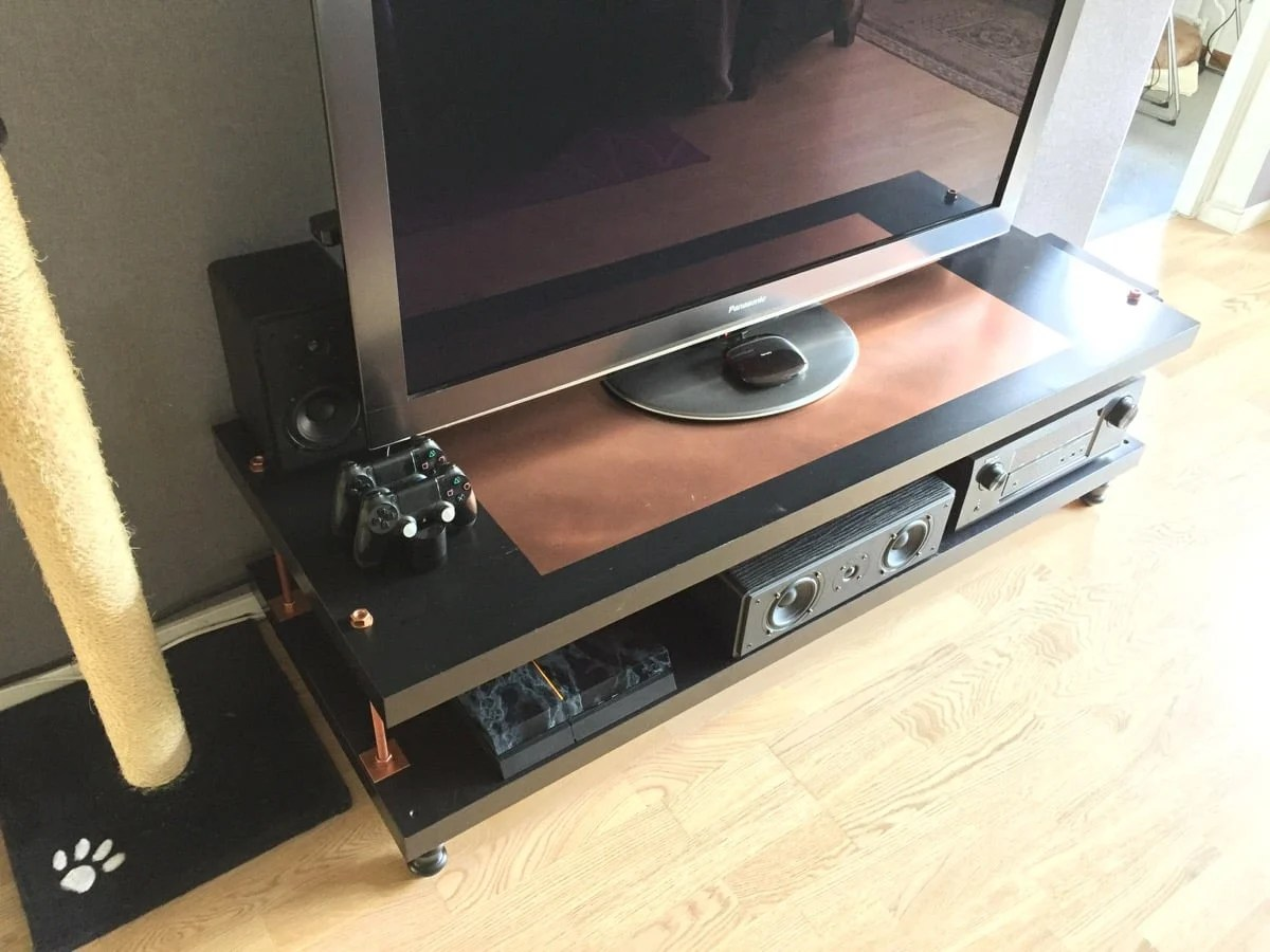 industrial steampunk hack to the lack tv stand ikea. Black Bedroom Furniture Sets. Home Design Ideas
