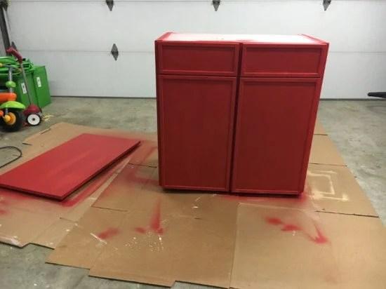 DIY Ikea Ivar cabinet Hack painted