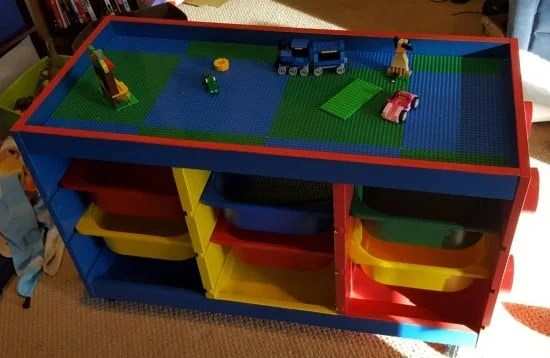 TROFAST LEGO table. Plenty of storage beneath