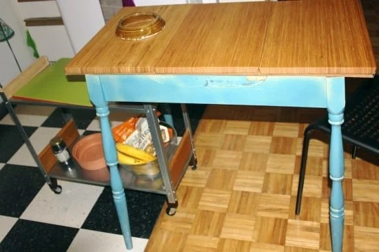 Aptitlig Kitchen table with HYLLIS trolley