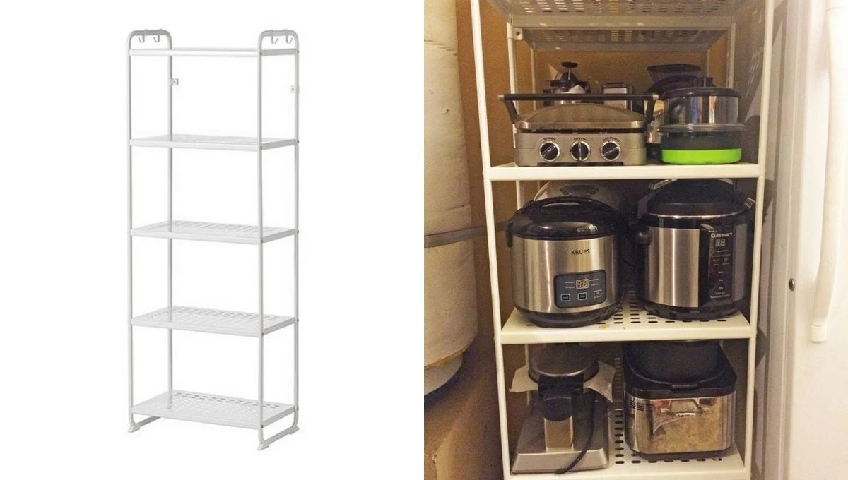 Reliable Appliance Garage out of 2 MULIG shelf units