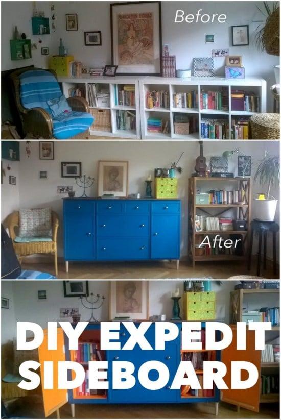 diy-expedit-sideboard