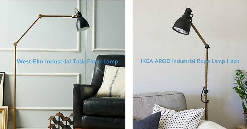 west elm inspired ikea arod lamp hack ikea hackers. Black Bedroom Furniture Sets. Home Design Ideas