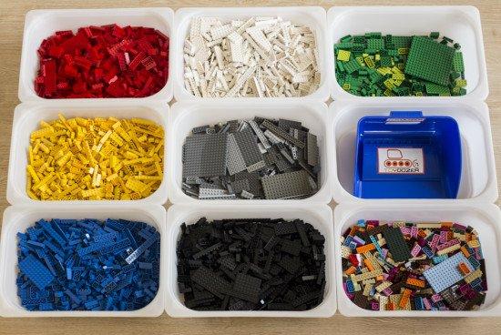 LEGOs in TROFAST bins